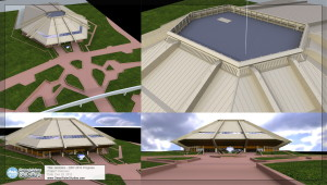Four renderings of the Horizons 3D project from 2007 until 2013