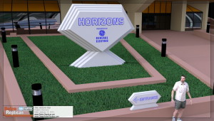 Horizons Sign - Close Up