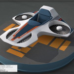 Horizons Hovercraft / Hoverlift 3D Model - Left 3/4 View