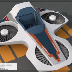 Horizons Hovercraft / Hoverlift 3D Model - 3/4 View