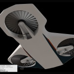 Horizons Hovercraft / Hoverlift 3D Model - Bottom View
