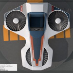 Horizons Hovercraft / Hoverlift 3D Model - Top view